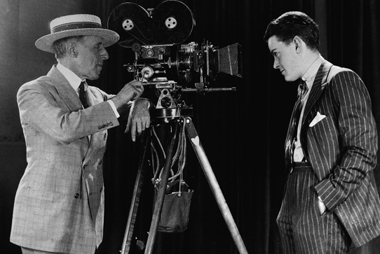 A. Barton Hepburn is given a screen test, May 1927