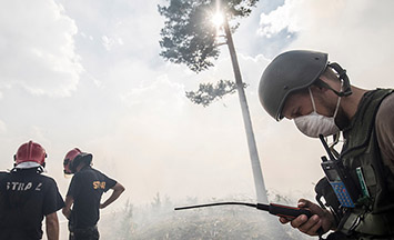 Capturing the EU's forest fire relief efforts in Sweden